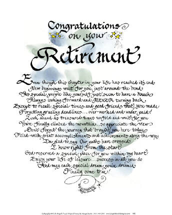 Touching Retirement Poems | just b.CAUSE